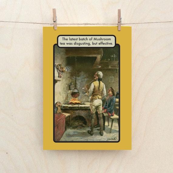 Magic Mushroom Card, funny Mushroom card, Funny card