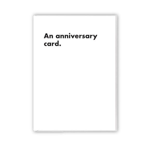 An anniversary card, funny card