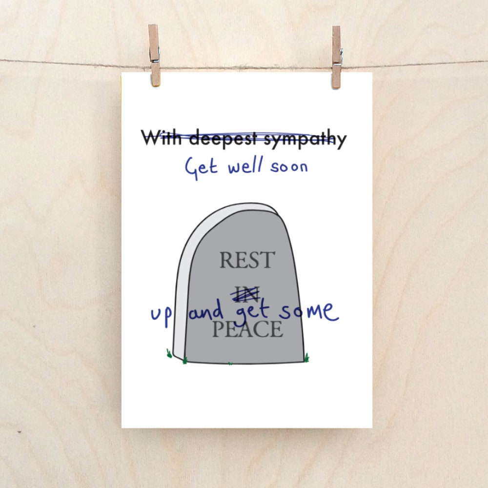 Get Well Soon Cardfunny Get Well Card