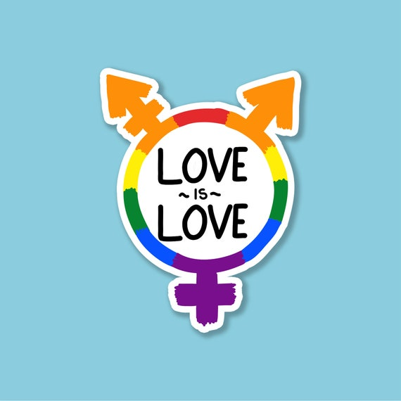 "Love is Love PRIDE Sticker Decal 2/"" 2"