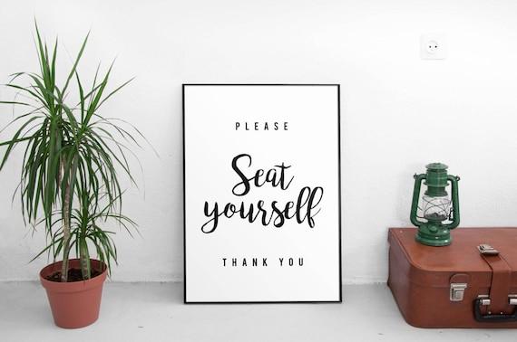 Cartelli Bagno Da Stampare : Sedile per favore te stesso segno bagno divertente citazione etsy