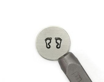 Jumbo Hand Prints metal stamp set 9.5mm Baby Hands /& Baby Feet Stamp set jewelry stamps Jumbo footprints metal stamping tools