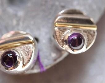 Amethyst Post Earrings