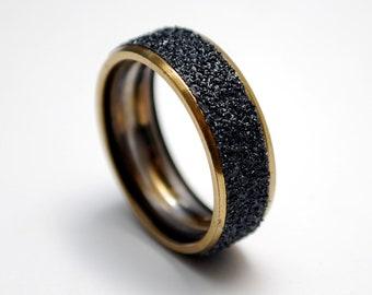 Gold Steel Ring Made from Recycled Skateboard Bearing - Metal Ring for men & women - Gift for skaters - Skateboard Rings - Golden Ring