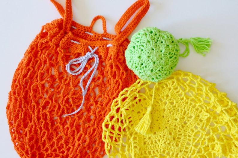 Crochet Pattern  US Terms. Medium Star Market Bag. Mesh image 0