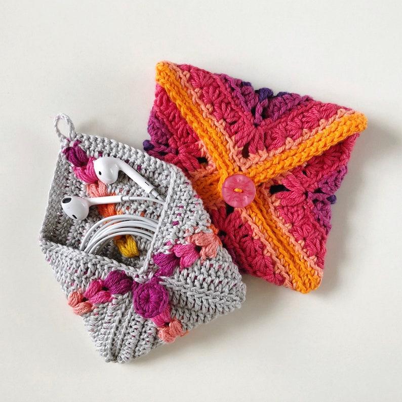 Crochet Pattern. Crochet Pouch Tutorial. Instant digital image 0