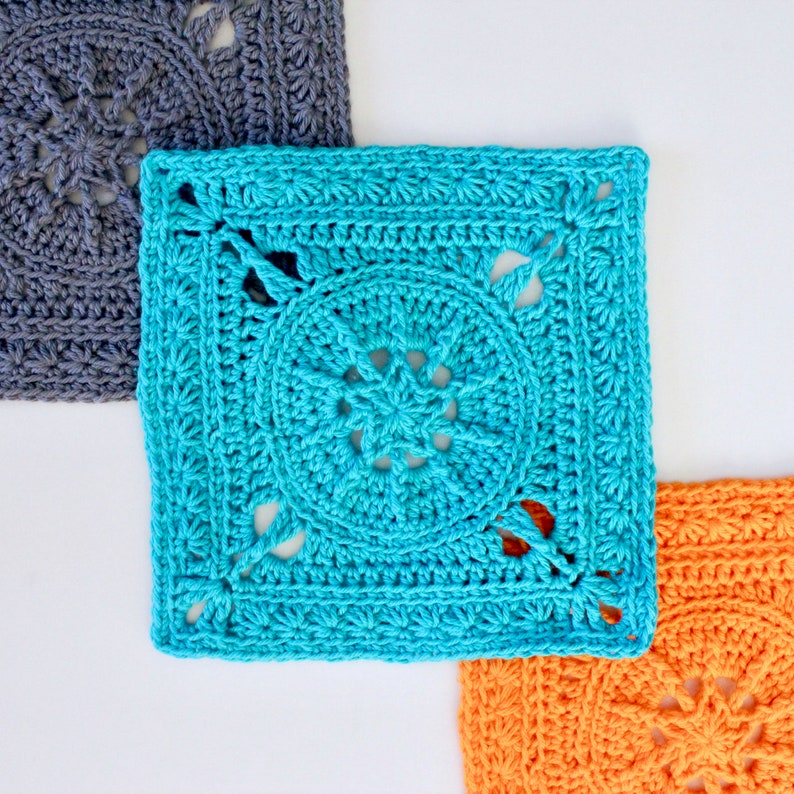 Crochet Pattern. Tiny Star Square. Instant digital download. image 0