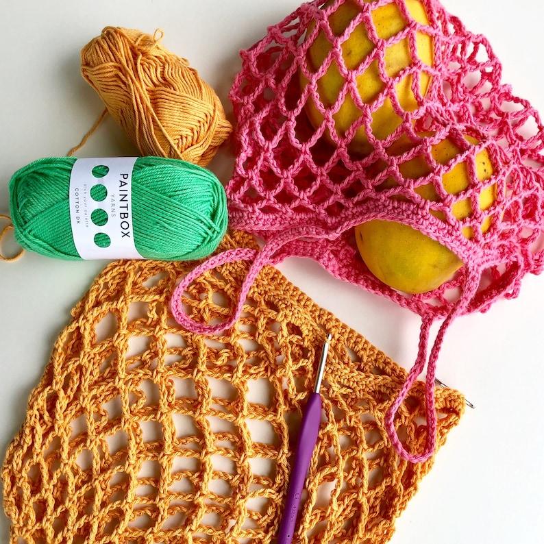 Crochet Pattern. Tiny Star Produce Bag. Small mesh market bag. image 0