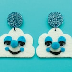 Cloud Felt Friend Earrings