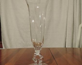 Cambridge Glass Keyhole Clear Vase
