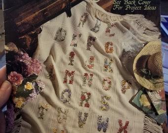 Leisure Arts Antique Floral Alphabet Cross stich pattern