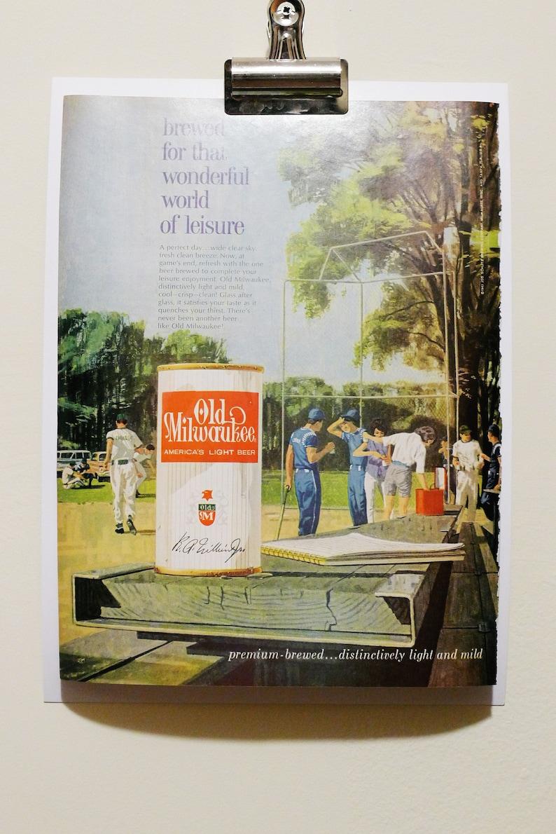 Vintage Print Advertisement Frameable Brewed For That Wonderful World of Leisure Vintage 1960s Old Milwaukee Beer Print Ad