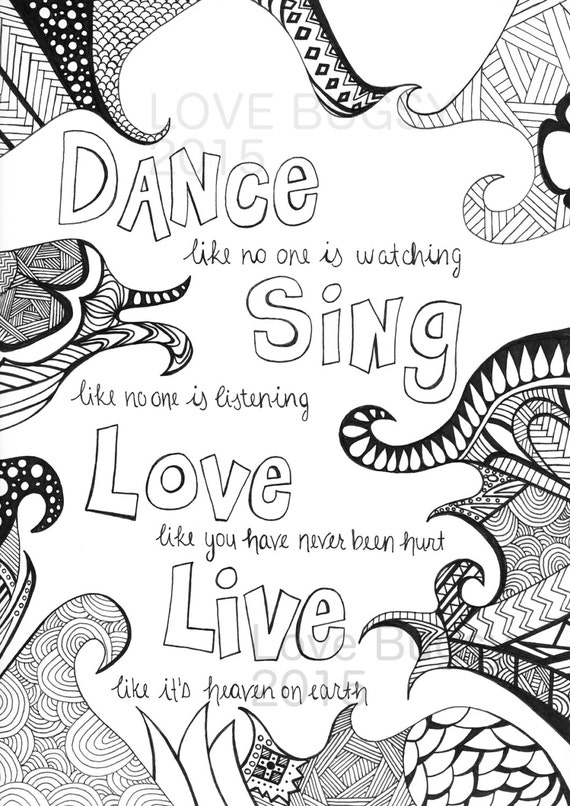 DIGITAL DOWNLOAD Adult Coloring Pages Adults Colouring