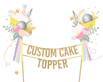 CUSTOM CAKE TOPPER // Design your own one-of-a-kind cake topper with your little one's name or age!