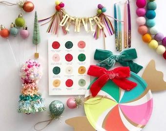 Customizable Needle-Felt Ornament Cake Topper // Fancy Free Finery x Kelsey Klos