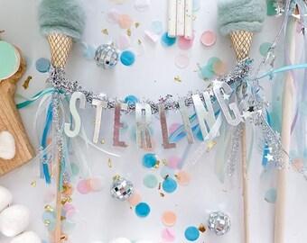 ICE CREAM SOCIAL // Needle-felt Ice Cream Cone Cake Topper