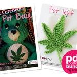 PDF pattern : Don't Care Bear amigurumi plush - marijuana crochet pattern - Weed Carebear plushie crochet pattern + Marijuana leaf pattern