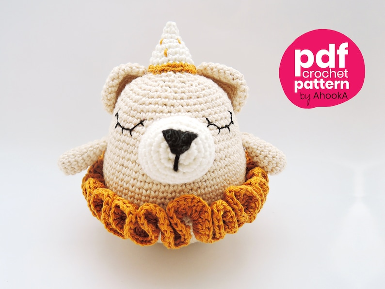 PDF PATTERN : Barry and Paula Bears the circus dancing bears image 0
