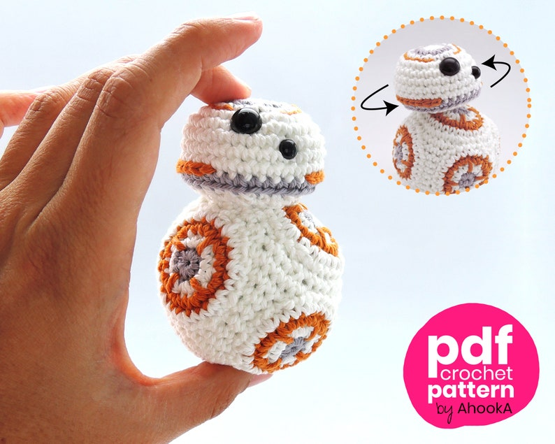 Pdf PATTERN : BB8 droid with movable head  BB-8 Star Wars image 0