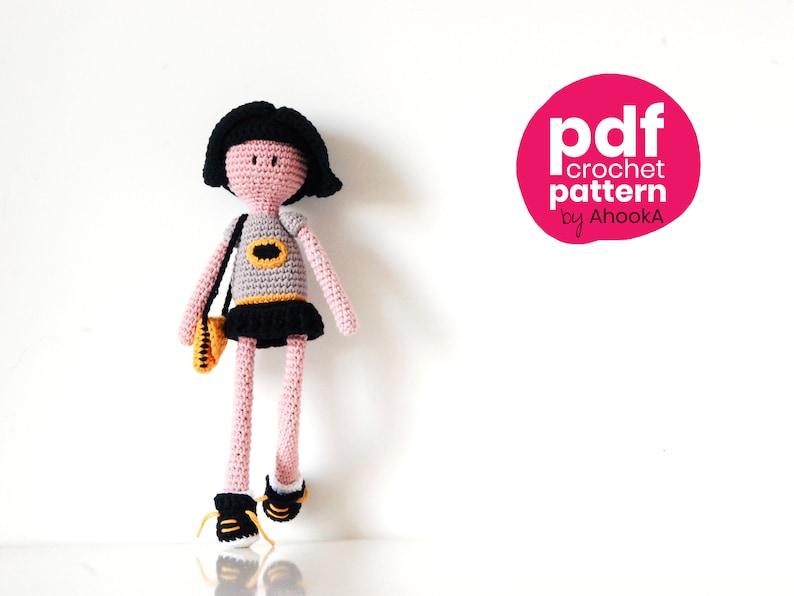 PDF PATTERN : Bat NamDoll  a superhero doll crochet amigurumi image 0