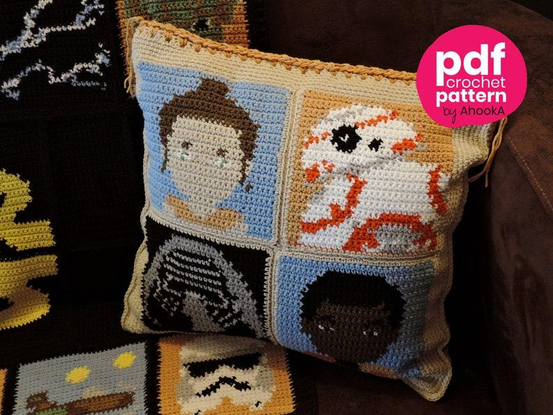 Pdf Pattern Star Wars Cushion Crochet Pattern Add On To Etsy