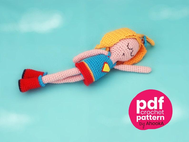 PDF PATTERN : Super NamDoll  a superhero doll crochet image 0