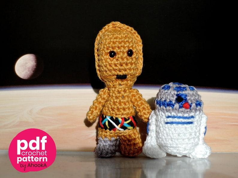 Pdf PATTERN : Mini C3PO and R2D2 droids  Star Wars robot image 0