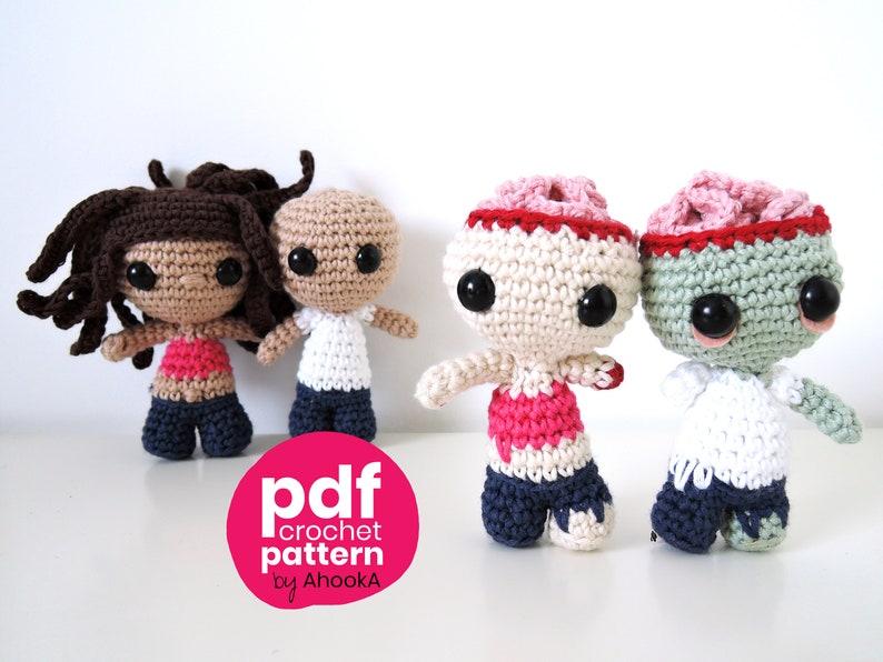 PDF PATTERN : Minibuddies amigurumi dolls and amigurumis image 0