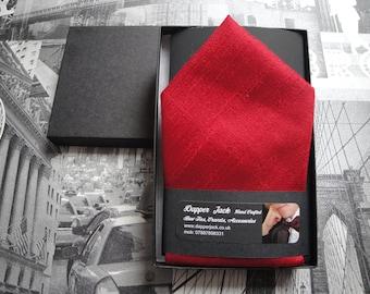 Pocket Square, rust silk pocket square, suit pocket handkerchief