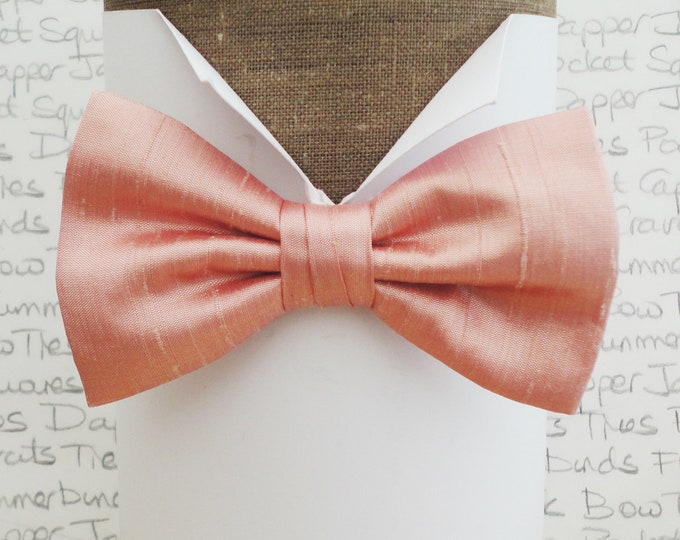 Bow tie, bow ties, blush pink bow tie, wedding bow tie, silk bow tie, pre tied or self tie bow tie