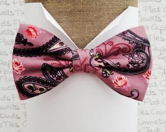 Paisley bow tie, bow ties for men, pre tied or self tie bow tie, bow ties UK