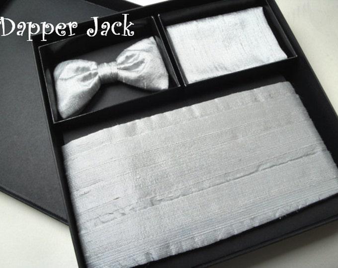 Cummerbund, Bow Tie, Pocket Square, Silk Dupion