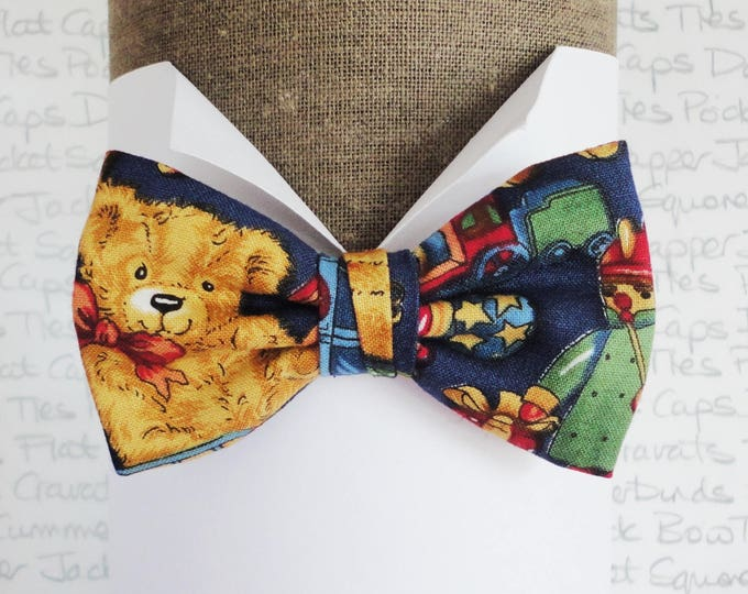 Bow ties for boys, boys bow ties, teddy bear bow tie, pre tied bow tie for boys