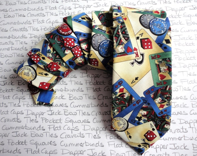 Neck tie, ties for men, playing cards tie