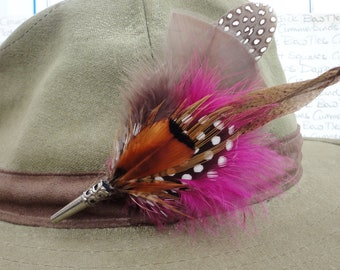 Feather hat pin,Feather lapel pin