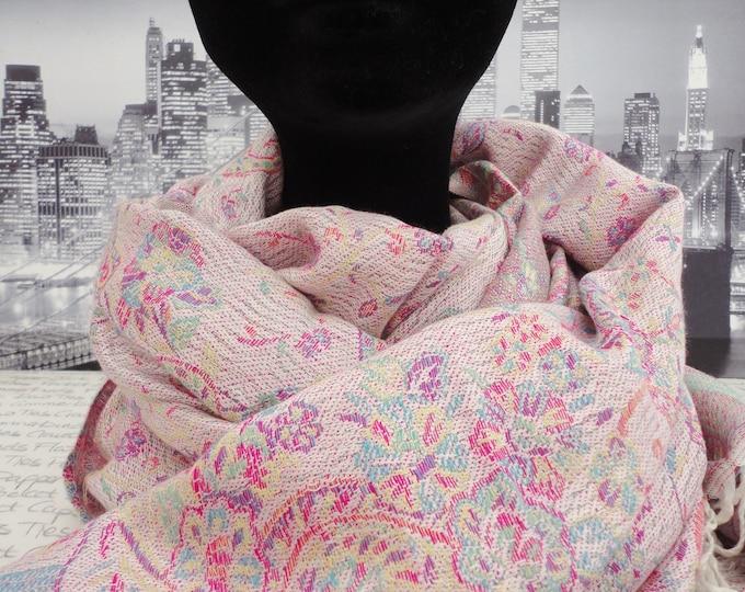Very pale pink scarf, shawl, pashmina