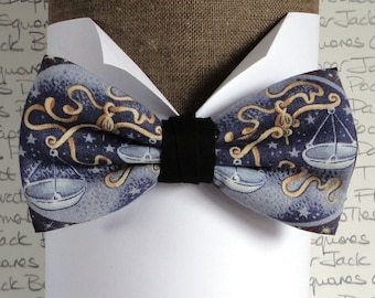 Pre tied bow tie, Libra birthday bow tie, bow ties for men