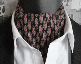 Cravat, Liberty Art Print Cravat, paisley on black