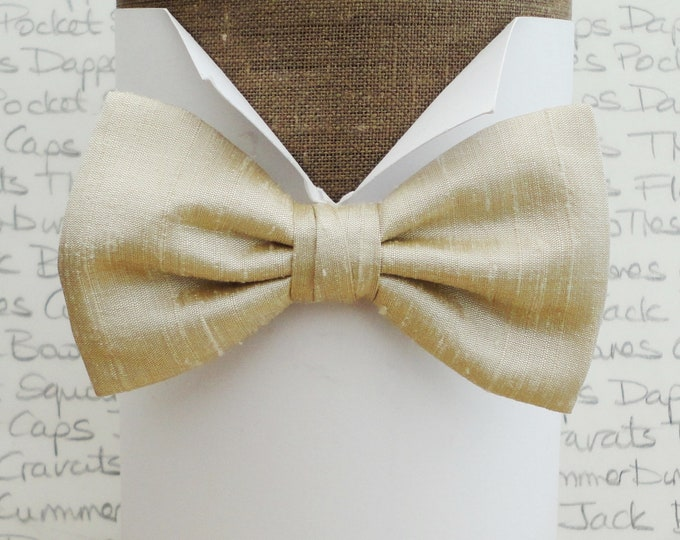 Wedding bow tie, bow ties, champagne bow tie, silk bow tie, bow ties for men, pre tied bow tie, self tie bow tie