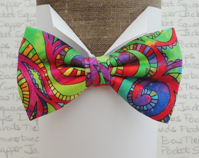 Bow tie, bow ties, bow ties for men, 60's bow tie, psychedelic bow tie
