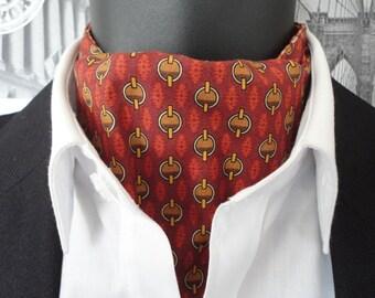 Cravat, Reversible Cravat, cravat for men in two contrasting cotton prints