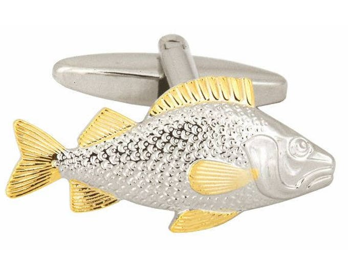 Fish cuff links, cuff links for men