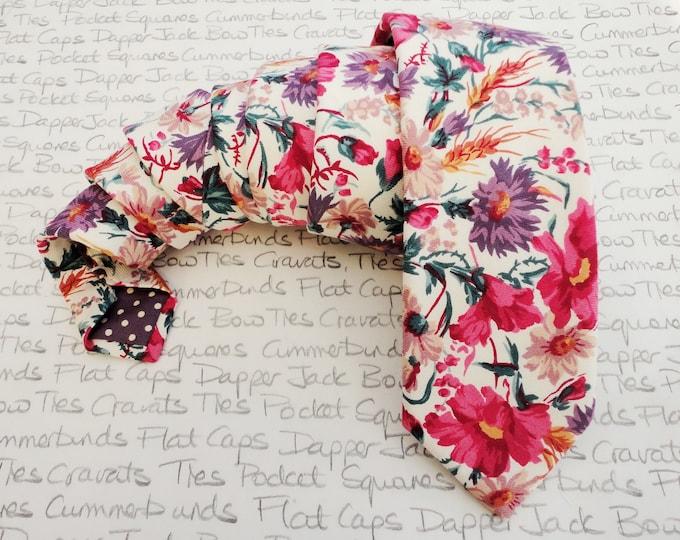 Floral tie, ties for men, wedding tie