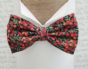 Winter berries pre tied bow tie, bow ties for men
