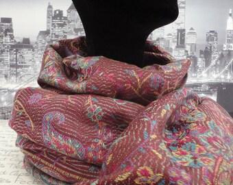 Burgundy shawl, scarf, pashmina, wrap
