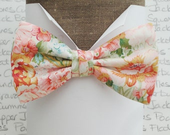 Floral bow tie, wedding bow tie, bow ties for men, wedding bow tie