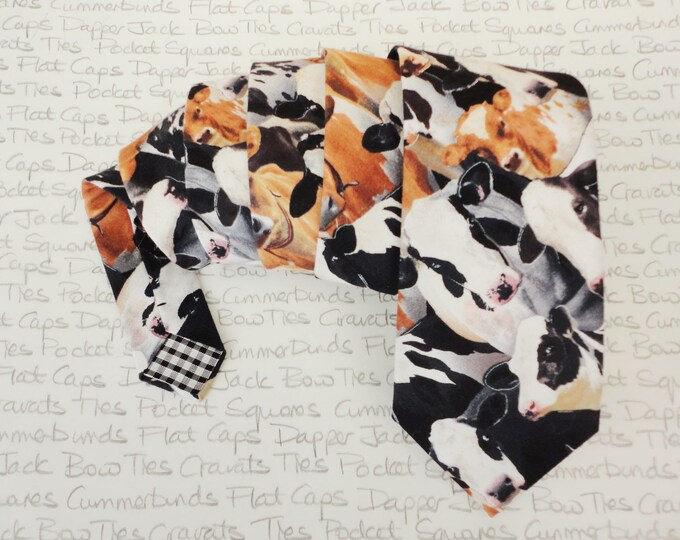 Neck ties for men, cow print tie