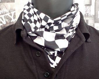 Neck tube, Snood, Chequered flag neck tube, Scarf, Bikers neck tube