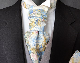 Scrunchy wedding cravat, ascot, wedding cravats for men, scrunchy cravats for men, men's cravats