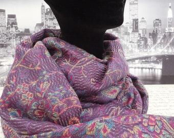 ladies shawl, scarf, pashmina in shades of purple